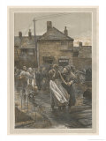 """Among the Missing"" Bad News on the Fishing Fleet's Return Giclee Print by Walter Langley"