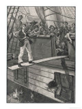 Making Their Captives Walk the Plank is a Favourite Pastime of Pirates Premium Giclee Print by Alfred Pearse