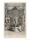 Rehoboam King of Israelis Advised to be Moderate But Prefers Younger Advisers Giclee Print by Michael van der Gucht