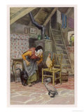 The Ugly Duckling at Home with the Old Woman and Her Other Beasts Giclee Print by Paul Hey
