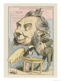 Political Candidate Makes a Gesture of False Sincerity Giclee Print by  Moloch