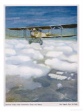 German Biplane in Action with French Aircraft Giclee Print by Paul Segieth