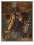 The Print Collector Giclee Print by J.l. Meissonier