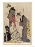 Three Japanese Women: Indoor Scene Giclee Print by Torii Kiyonaga