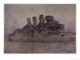 British Warship Active During World War One Giclee Print by Donald Maxwell