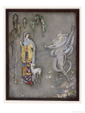 The Lady and Her White Fawn are Surprised by a Strange Apparition Giclee Print by Jennie Harbour