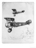 Single-Seat Scout or Fighter Popular for Its Ease of Handling Giclee Print by Howard Leigh