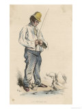 Angler on the Seine Giclee Print by Monnier 