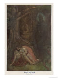 Satyavan Dies as Foretold in His Wife Savitri's Arms Gicleetryck av Evelyn Paul