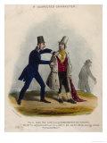 An Observant Policeman Apprehends a Pickpocket Giclee Print by Henry Heath