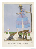 Blue and Lilac Dress by Paul Poiret Giclee Print by A.e. Marty