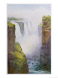 Victoria Falls on the River Zambesi in South Africa Giclee Print by A.m. Goodall