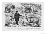 Leech Cartoon Dinosaurs Giclee Print by John Leech
