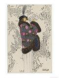 Fur-Trimmed Mantle, c.1913 Giclee Print by Mela Koehler