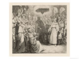 Martin Luther Defends His Views at the Diet of Worms Before the (Catholic) Emperor Karl V Giclee Print by Gustav Konig