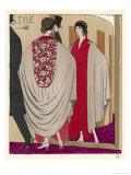 Voluminous Cape Like Evening Coat by Paul Poiret Giclee Print by A.e. Marty