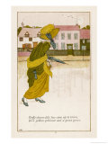 Daffy-Down-Dilly Has Come up to Town in a Yellow Petticoat and a Green Gown Giclee Print by Kate Greenaway