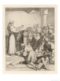 Martin Luther Delivers His Baccalaureate Lecture Giclee Print by Gustav Konig