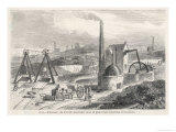 Steam Engine Drawing Coal in the Staffordshire Collieries Giclee Print by W.h. Prior