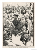 The Devil Carousing Giclee Print by Heath Robinson