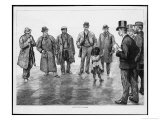 Fearless Little Girl Picks out a Man in an Identification Parade Giclee Print by Renouard
