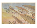 Hunting with Airships Giclee Print by Albert Guillaume