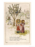 Diddlty Diddlty Dumpty the Cat Ran up the Plum Tree Giclee Print by Kate Greenaway