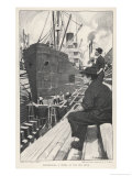 Sn American Steamship in Dry Dock for Overhaul Giclee Print by Thornton Oakley