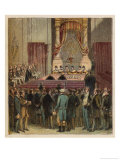 The Reform Bill is Finally Passed Through the House of Lords on 7 June 1832 Giclee Print by Joseph Kronheim