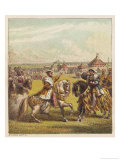 Henry VIII and Francis I Meet on the Field of the Cloth of Gold Near Calais Giclee Print by Joseph Kronheim