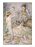 The Little Mermaid Talks with the Witch on the Sea-Floor Giclee Print by Monro S. Orr
