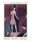 The Vogue for Different Coloured Stockings Giclee Print by Jose Lorenzi