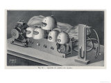 Marage's Machine to Simulate the Sounds and Mouth Shapes Created by Saying the Five Vowels Giclee Print by  Poyet