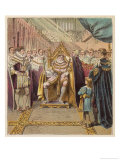 The Prince Regent George IV is Crowned King at Westminster Abbey Giclee Print by Joseph Kronheim