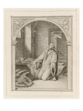 Martin Luther at the Deathbed of His Daughter Magdalene Giclee Print by Gustav Konig