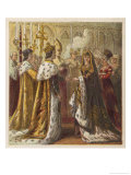 The Wedding Ceremony of Henry VII and Elizabeth of York United the Houses of York and Lancaster Giclee Print by Joseph Kronheim