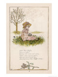 Sufferers from Arachnophobia Will Sympathise with Little Miss Muffet Giclee Print by Kate Greenaway