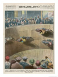 "On This London ""Wall of Death"" the Riders are Travelling Parallel to the Ground Giclee Print by Alfredo Ortelli"