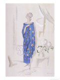 Dress and Shawl by Rodier Giclee Print by Pierre Mourgue