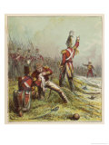 Sir John Moore Leading the British Against the French in Spain is Killed at Corunna Giclee Print by Joseph Kronheim