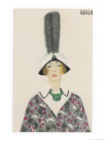 Hat with Aigrette, c.1913 Giclee Print by Mela Koehler