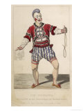 Joseph Grimaldi as a Clown in the Pantomime of Mother Goose, 1778-1837 Giclee Print by J. Harris