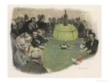 All Eyes are on the Green Table in a Monte Carlo Casino Giclee Print by E. Rosenstand