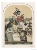 The Concert des Chats, a Feature of the Foire de Saint- Germain Reproduction proc&#233;d&#233; gicl&#233;e par Louis Lassalle