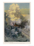 The American Operation: Blasting Rock at the Emperador Cutting Giclee Print by William Harmden