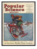 Swiss-American Inventor Thomas Avoskan's Motor Cycle with Skates Giclee Print by Frank Murch