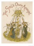 Young Ladies Dancing Around the Maypole Giclee Print by Kate Greenaway
