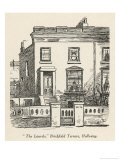 The Laurels' Brickfield Terrace Holloway Home to the Pooters Giclee Print by Weedon Grossmith