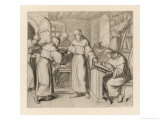 Martin Luther is Sent by Staupitz to the Augustinian Monastery at Meissen in Thuringen Giclee Print by Gustav Konig