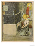 The Goose Girl Kneels and Prays Giclee Print by Willy Planck
